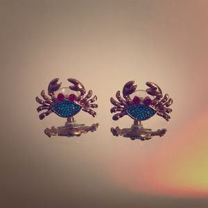 Betsy Johnson crab earrings